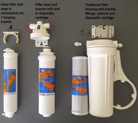 Mains connected water cooler filter options